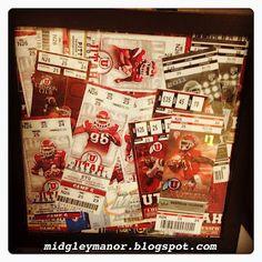 Utah Ute Football Ticket Display. Go Utes!