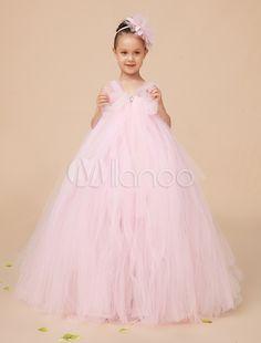 Acheter blanc ivoire dentelle robe de for Robe de fille de fleur pour le mariage de plage