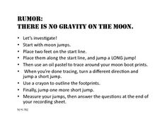 Does the Moon Have Gravity?: Problem-Based Learning with measurement - to the nearest inch, half inch, or quarter inch, conversion of units, comparison of standard vs. metric units, addition, addition of fractions, and multiplication (all in ONE problem- based learning activity - crazy!)