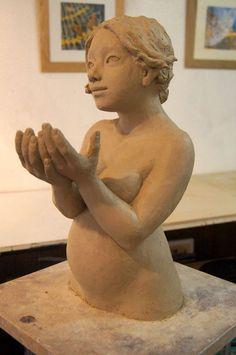 by Emilie Lacroix Sculptures, Statue, Art, Terracotta, Figurative, Art Background, Kunst, Performing Arts, Sculpture