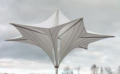 office by for lightweight tensegrity architecture structure tensile-structure design, Designed Frei Otto, super design! Shell Structure, Membrane Structure, Fabric Structure, Roof Structure, Nachhaltiges Design, Gate Design, Roof Design, Tensile Structures, Natural Structures