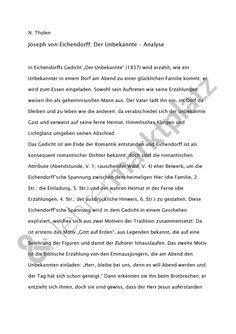 Gedichtanalyse zu Eichendorff: Der Unbekannte #josefvoneichendorff #eichendorff #derunbekannte #gedicht