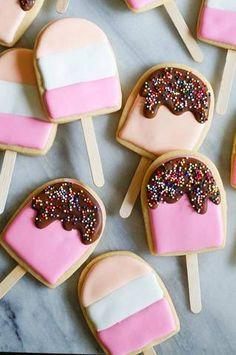 ice cream pop cookies.