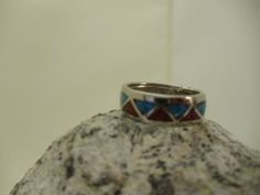Vintage Southwest silver inlaid with turquoise by 2vintagedivas, $25.00