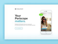 Periscope for Influencers (Landing page)