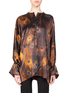 Givenchy Long Peacock Blouse with pants