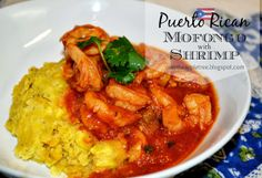 Puerto Rican Mofongo With Shrimp by Over The Apple Tree via @Over The Apple Tree & @TheWearyChef Saturday Night Fever