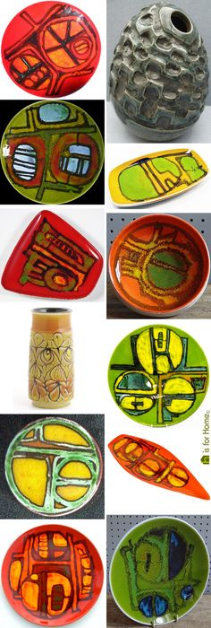 Selection of vintage Carol Cutler designs for Poole Pottery | H is for Home
