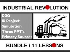 Industrial Revolution Bundle Romanticism Govt. PPT, 11 Lessons World HistoryUPDATED:  8/11/15 Added Story of Mankind Episode 10 to the bundle. You will be getting 2 different versions and a paragraph sheet. THE FIRST SEMESTER OF WORLD HISTORY THE WHOLE YEAR OF WORLD HISTORY In this Bundle I will include the following items: Agricultural Revolution presentation (11 slides), a short video intro, Industrial Revolution presentation (38 slides), 2 short videos, Industrial Revolution simulation…