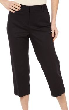 ab21dd71a20 Rafaella Womens Petite slim leg curvy fit Capri Pant Black 14Petite --  Click on the