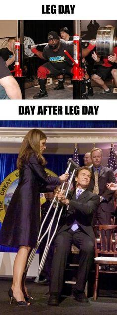 haha tomorrows leg day