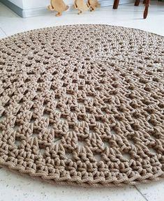 Many Colors Many Sizes Handmade Large Crochet Rug Bohemian Rug Natural Carpet Cotton Cord Rug Doily Rug Modern Rug Shabby Crochet Doily Rug, Crochet Rug Patterns, Crochet Carpet, Crochet Round, Crochet Home, Cotton Crochet, Tapete Doily, Natural Carpet, Natural Rug