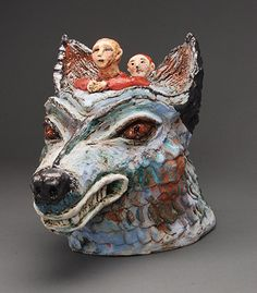 morgan contemporary glass gallery - Images for Cheryl Tall Romulus And Remus, Teapots, Cheryl, Whimsical, Lion Sculpture, Cups, Skull, Pottery, Ceramics