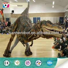 Customized walking with robotic dinosaur costume $1500~$10000