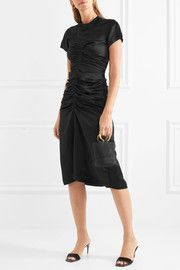 Isabel MarantElse ruched satin midi dress