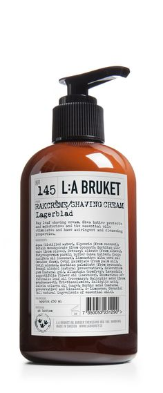 No. 145 Shave Cream Laurel Leaf / Lagerblad 250ml