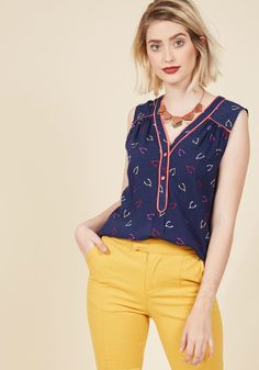 Cafe au Soleil Sleeveless Top in Geodes | ModCloth