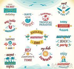 13 summer tag vector