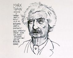 """Mark Twain patented an """"Improvement in Adjustable and Detachable Straps for Garments"""". Some apparently great ideas are merely temporary distractions from your regular genius'."""