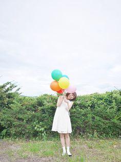 #balloon#portrait#風船