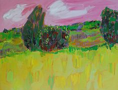 Green Field: Leonard Moskowitz: Acrylic Painting | Artful Home
