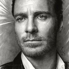 Micheal Fassbender - A Pencil Drawing by Thubakabra
