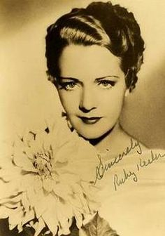 Ruby Keeler. (1910-1993) Born in Canada, lived in California. Hollywood actress