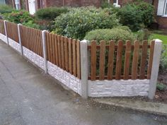 3ft picket fencing with concrete posts