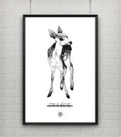 I am a biche Poster /// Illustration /// Clémence Thienpont