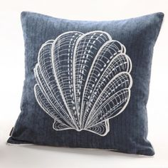 Embroidery Nautical Pillows,Shell pillow
