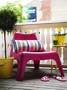 Balkonmöbel selber bauen – Gartenmöbel Set - garten möbel selber bauen rosa glanzvoll akryl stuhl