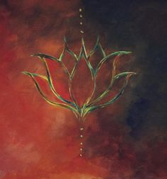 Flower sketches: Bohemian, Lotus drawn with oil paint, Bohemian art...