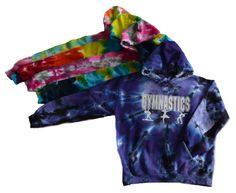 Gymnastics Tie Dye Sweatshirt - 3 Gymnast Logo