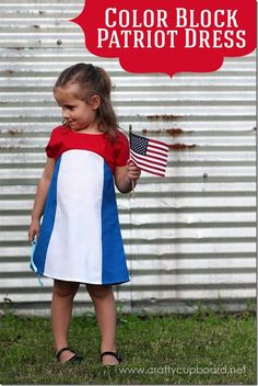 Color Block Patriot Dress Tutorial by The Crafty Cupboard