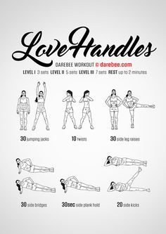 Love Handles Workout by DAREBEE #darebee #workout #fitness