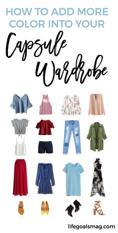 How to add more color into your summer capsule wardrobe