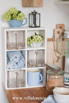 Blue and White Kitchen Decoration