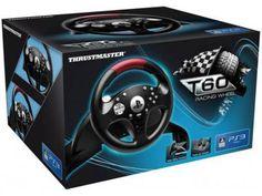 Volante com Pedais T60 para PS3 - Thrustmaster com as melhores condições você encontra no Magazine Valdecirls. Confira!
