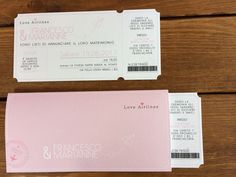 #Partecipazioni #matrimonio #ticket con cover personalizzata #wedding #invite #ticket with #cover