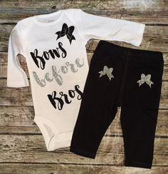 Bows Before Bros Baby Girl Sparkle Outfit Toddler by BellaPiccoli