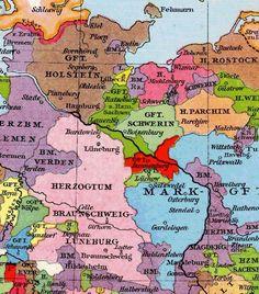 Nordtyskland 1100 Kort Holstener