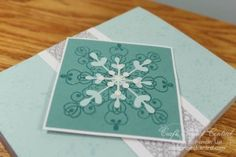 Snowflake Flip Cards & Mini Album! www.craftprojectcentral.com Are you ready for some snow? Or at least a few snowflakes? This set explores using the Snowflake Flip Card Thinlits set to make four cards that double as gift card holders, a box to hold those lovely cards and a mini album. This would make a wonderful gift for someone special or a fabulous winter class project!