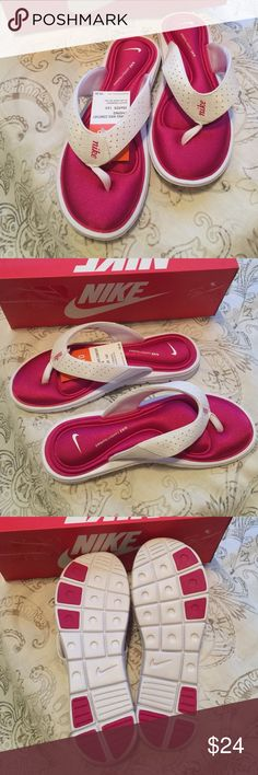 Nike Comfort Thong Sandal (New in Box) Features: Cushioned Shoe Heel  100% Synthetic Rubber  Blend. Sandal NWT in box. Sandal true to size. Nike Shoes Sandals