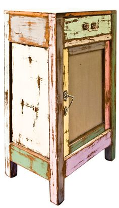 Upcycled Painted Wood Cupboard : The Old Cinema - Antique Vintage Retro