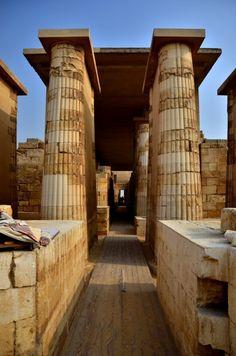 The Hall Colonnade. Saqqara  Egypt.