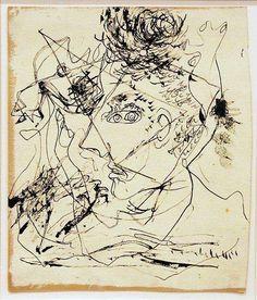 Self Portrait by Jackson Pollock