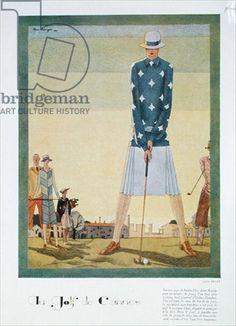 Golfing dress design by Jane Regny, fashion plate from 'Femina' magazine, Christmas 1926 (colour litho)