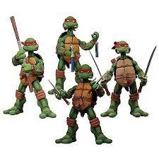Teenage Mutant Ninja Turtle figurines.