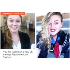 A year ago today I was hired in Phoenix as a US Airways Flight Attendant TraineeThis #Tbt Has a #Transformation in itWhere has the time gone? Oh, how much I've changed in a year✈️How surreal! Since this day, my life has thrown me curveball after obstacle. I've experienced what seems a lifetime of lessonsAnd I've been blessed with new friends and sadly lost someBut overall experienced growth and truly love this careerCouldn't be happier, and that is a great feeling! Happy Thursday y'all ☀️