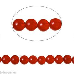 5 Strand Red Natural Gemstone Dyeing Round Loose Beads Agate Jewelry Making